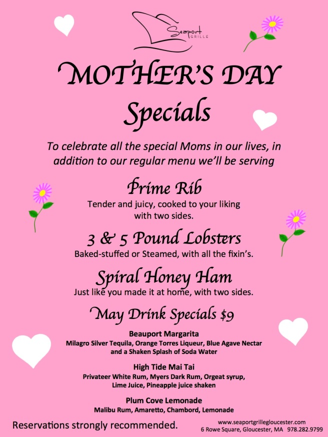 Mother's Day Specials at Seaport Grille | capeanneats