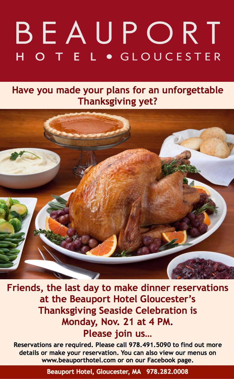 Forget the dinner reservations