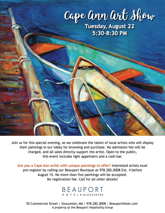 cape ann art show flyer